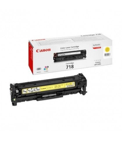 Canon 718Y жёлтый лазерный картридж