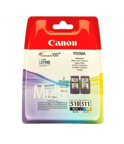 Canon PG-510 + CL-511 чёрный + цветной комплект