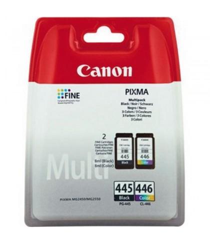 Canon PG-445 + CL-446 чёрный + цветной струйный картридж