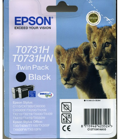 C13T10414A10 картридж Epson T0731H(721) Twin pack black