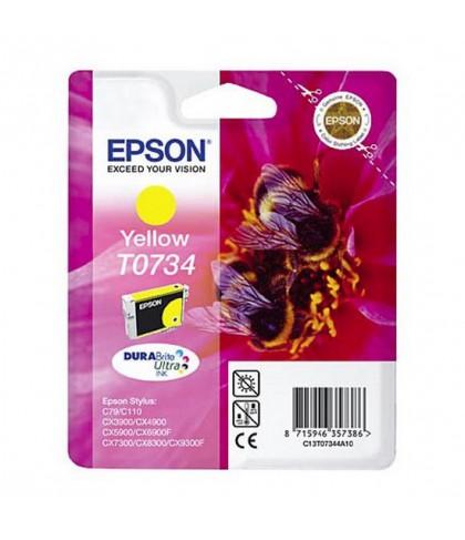 C13T10544A10 картридж Epson T0734 yellow