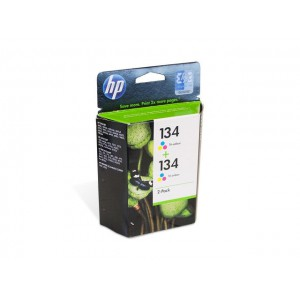 C9505HE картридж HP 134 + 134 color multipack