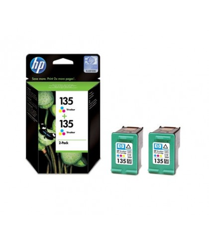 CB332HE картридж HP 135 + 135 color multipack