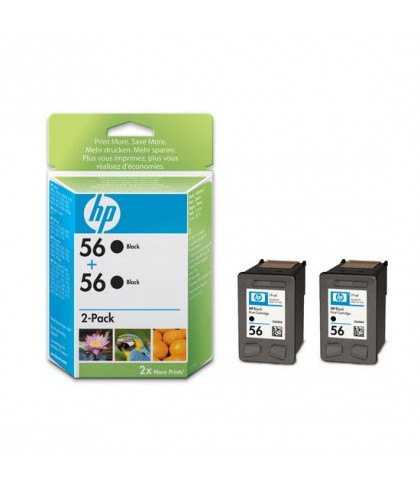 C9502AE картридж HP 56 + 56 black multipack