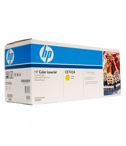 CE742A картридж HP 307A yellow
