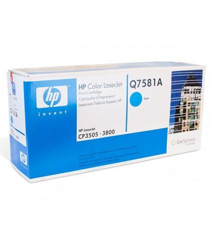 Q7581A картридж HP 503A cyan