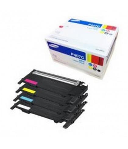 CLT-P407S лазерный картридж Samsung комплект 4 цветный